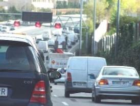 Circulación densa a primera hora en Madrid