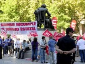 Trabajadores de la seguridad privada protestan por los incumplimientos del convenio colectivo