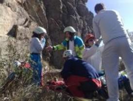 Dos montañeros heridos graves en Rascafría y la Pedriza