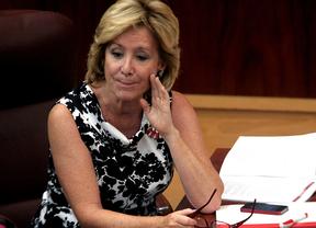 Esperanza Aguirre habla a un consejero