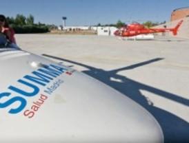 Un helicóptero equipado con tres cámaras detecta un incendio a 40 kilómetros de distancia