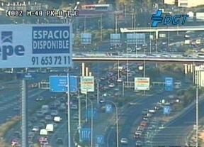 Hora punta colapsada en Madrid
