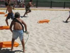 Nuevo espacio deportivo con arena de playa para el parque Puerta de Hierro