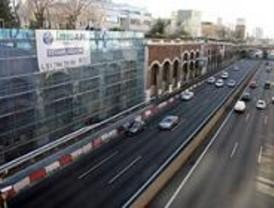 El muro derrumbado en la A-2 estará a punto el 11 de febrero