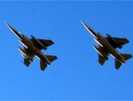 Continúan los ensayos de los aviones de las Fuerzas Armadas en la Castellana