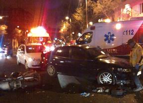 Fallece un motorista al colisionar con un turismo en Bravo Murillo