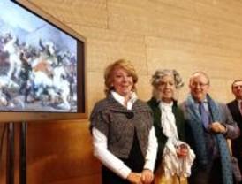 Sol lucirá dos murales con cuadros de Goya hechos con fotos de los madrileños