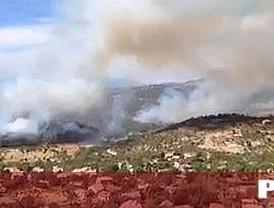 Estabilizado el incendio de Robledo y Valdemaqueda