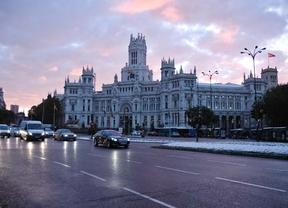 Madrid amanece nevado