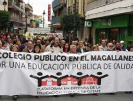 Getafe exige a la Comunidad que construya un colegio en el antiguo campo de fútbol Magallanes
