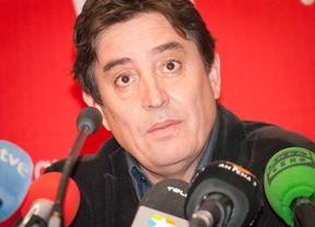 Luis Garcia Montero  en la presentación de los candidatos de IU.