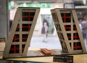Exposición de arquitectura hecha con piezas de Lego en el Fnac de Callao.