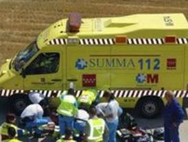 Herido grave un joven motorista en la M-600