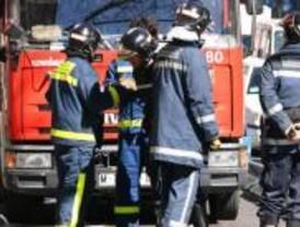 Incendio en un taller de coches de Latina