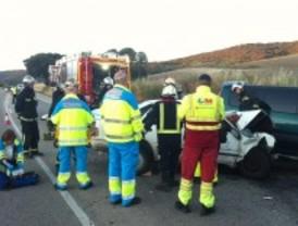 Una mujer de 40 años, grave tras un accidente de tráfico en Morata de Tajuña