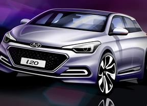 Hyundai enseña los primeros bocetos del nuevo i20