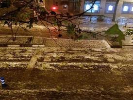La tormenta de granizo y agua colapsa Madrid