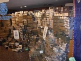 Tres toneladas incautadas en una operación contra la red que controlaba el tráfico de hachís en Madrid