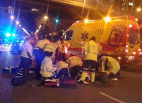 Herida muy grave al ser atropellada por una moto en la Castellana