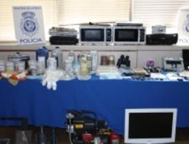 Adulteraban cocaína en un laboratorio clandestino