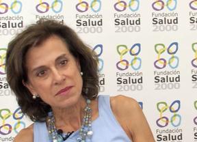 La doctora Lourdes Ibáñez en la sede de la Fundación Salud 2000