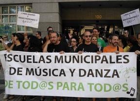 Protesta contra la privatización de las escuelas de música y danza