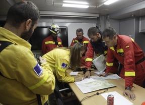 Unidad Militar de Emergencias (UME) en el incendio de Almorox