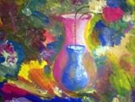 Una artista alpedreteña expone sus cuadros en la Casa de la Cultura