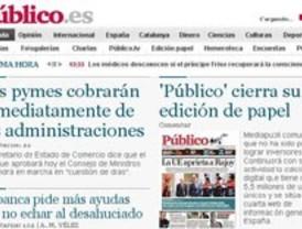 Cierra la edición impresa de 'Público'