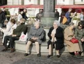 Las pensiones en Madrid siguen un 18% por encima de la media pero suben menos