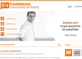 Página web de Ciudadanos Madrid.