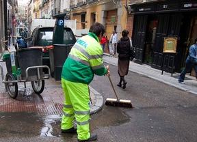 Barrendero de la ciudad de Madrid