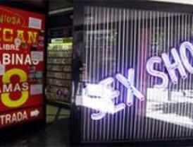 Los locales de alterne critican el cierre de los 'sex-shops' en Montera