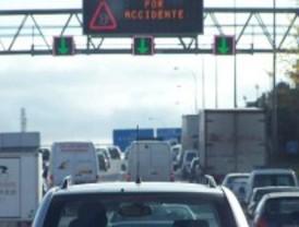 Una colisión en la M-50 complica el tráfico