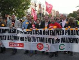 Manifestación contra la privatización de los servicios municipales en Valdemoro