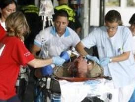 Último parte: empeora uno de los heridos muy graves de Barajas