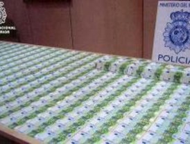 Desmantelado un centro de producción en cadena de billetes falsos