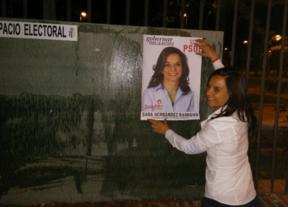 La candidata socialista Sara Hernández