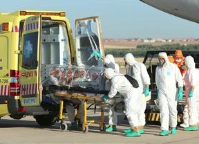 Repatriación del misionero Miguel Pajares contagiado de ébola en la base aérea de Torrejón