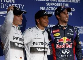 Pole de Hamilton y naufragio de Vettel en Australia
