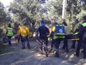 Complicado rescate de un ciclista en el monte de El Pardo