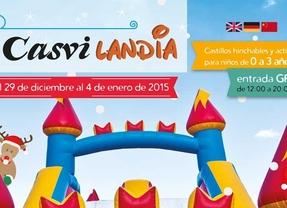 Casvilandia, una fiesta con castillos hinchables para la Navidad