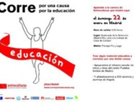 Carrera solidaria contra el analfabetismo en Angola