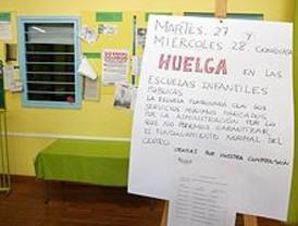 'Fuerte apoyo' a la segunda jornada de huelga en infantil