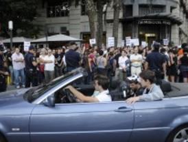 Dos detenidos en el 'velatorio' de la Constitución