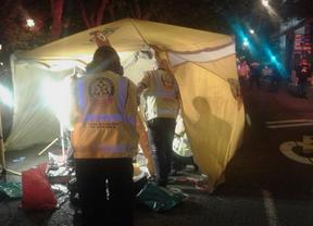 Herido muy grave un peatón atropellado por una moto en la Plaza de España