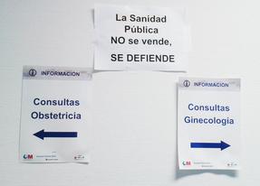 Carteles en el hospital Infanta Sofía