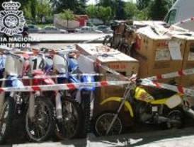 Detienen a un grupo que robó más de 20 motocicletas en Teruel valoradas en 150.000 euros