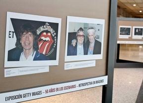 Retrospectiva de los Rollings Stones en cincuenta fotografías de su carrera en el centro comercial Modashopping.
