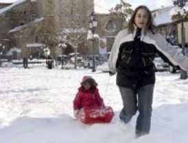 Más de ocho centímetros de nieve este lunes